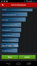 Le score du Moto G sur AnTuTu, tout à fait acceptable.