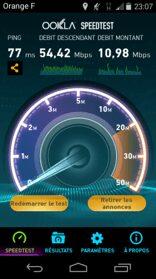Debit en 4G