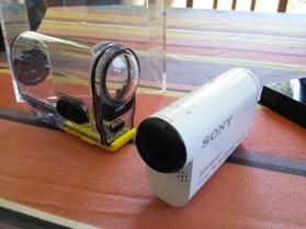 La caméra et la protection waterproof