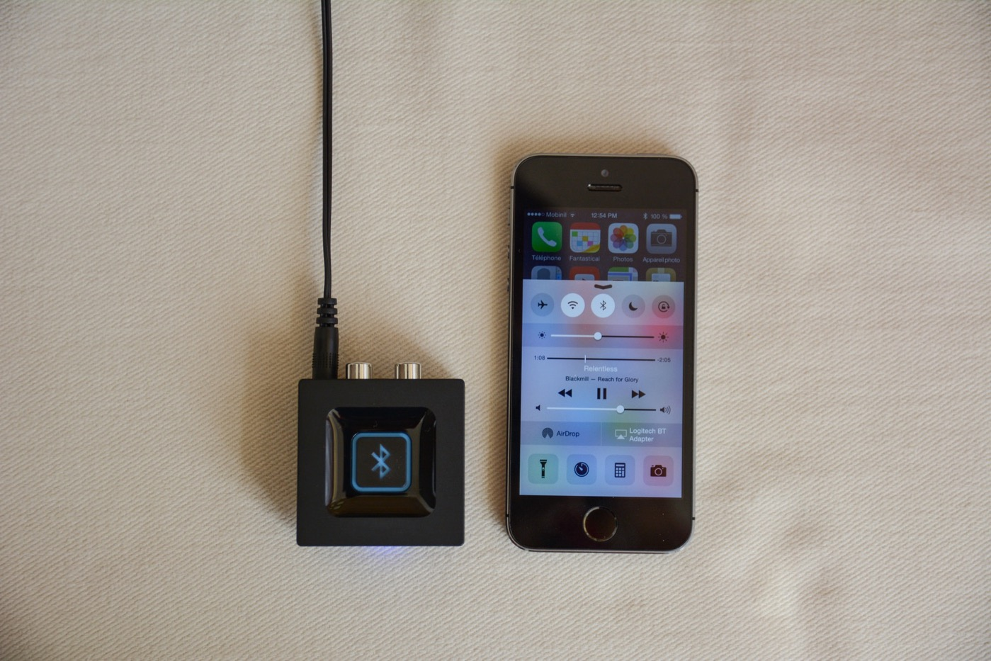 test logitech bluetooth audio adapter lcdg. Black Bedroom Furniture Sets. Home Design Ideas