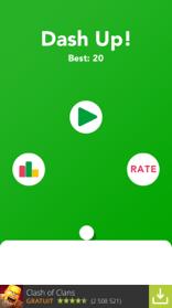 Pour lancer une partie, il suffi de cliquer sur la flèche verte !
