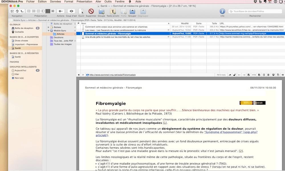 Photo de Test de DEVONthink Pro, le gestionnaire d'information pour Mac