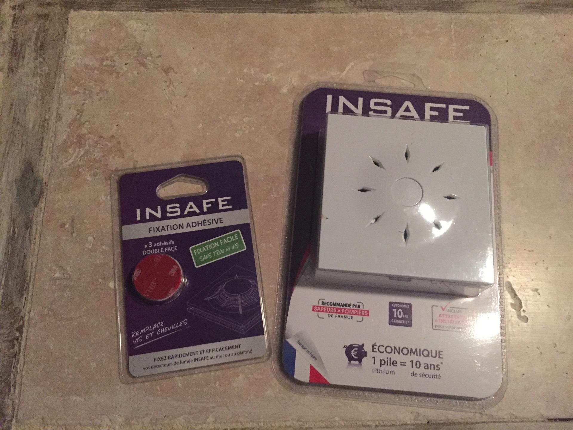 Le caf du geek test insafe design un d tecteur de fum e longue dur e lcdg - Detecteur de fumee insafe ...