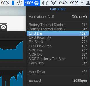 CPU 102 degres