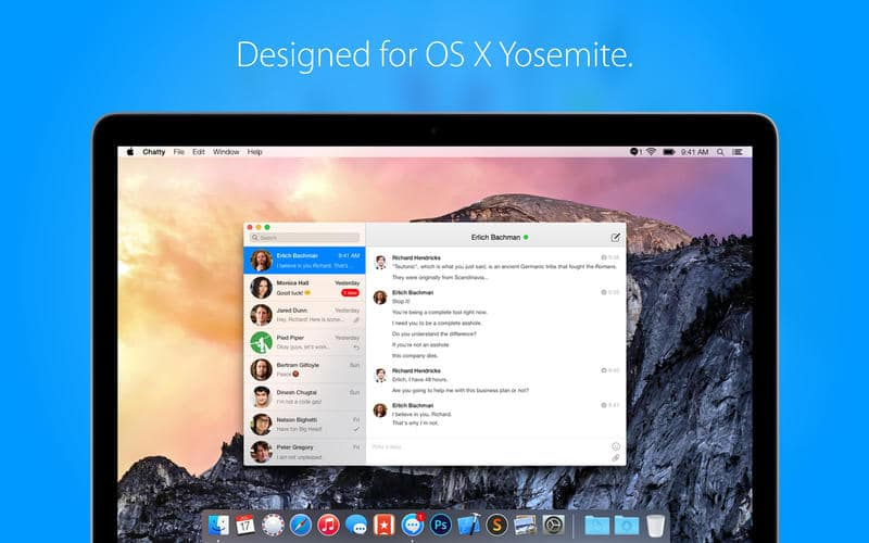Photo de [APP] Chatty, le Messenger pour Mac