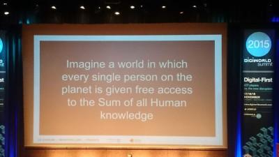 Imagine a world... Wikipédia
