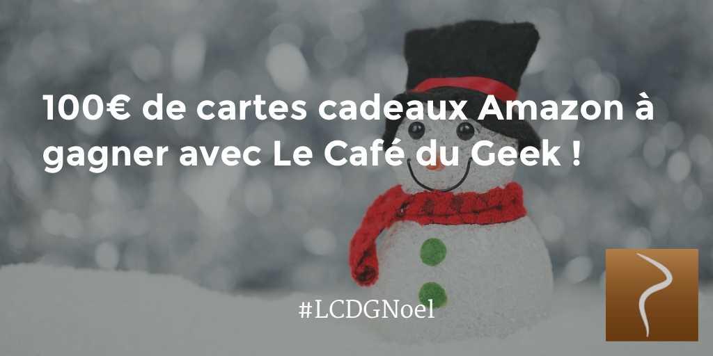 Photo of [Concours Noël] 100€ de cartes cadeaux Amazon à gagner !