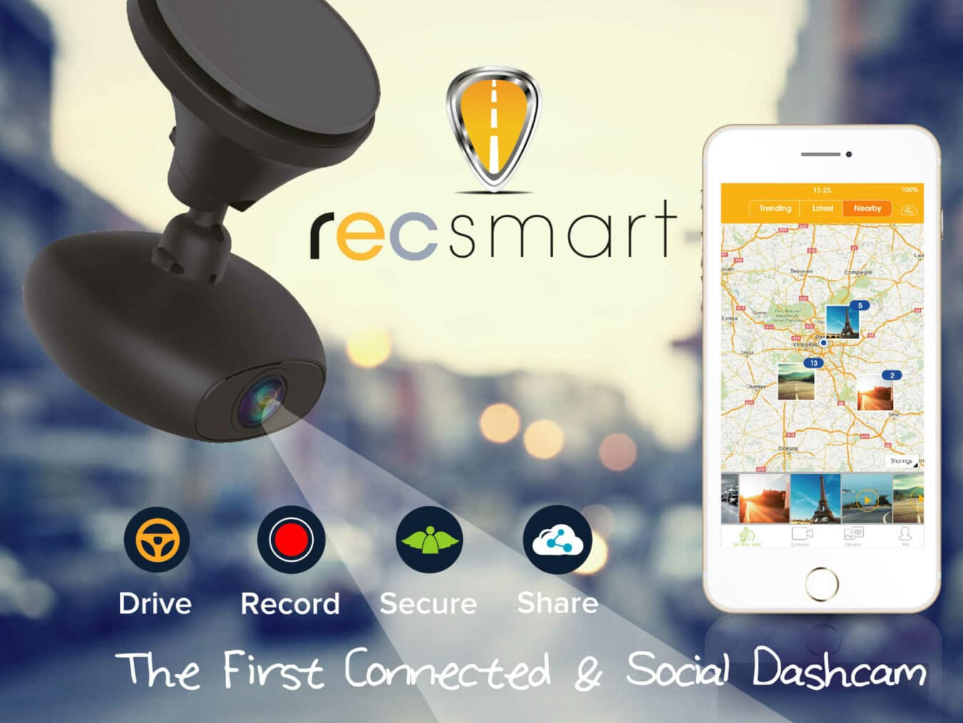 Photo of #MWC2016 recSMART, la dashcam sociale de RoadEyes