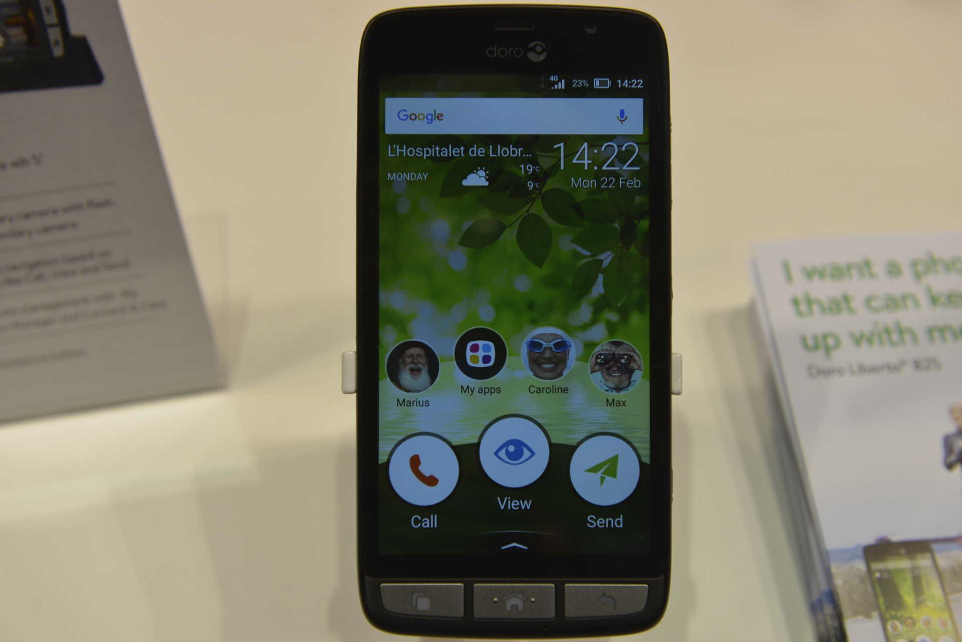 Mwc 2016: Seniors Smartphone Doro 8031