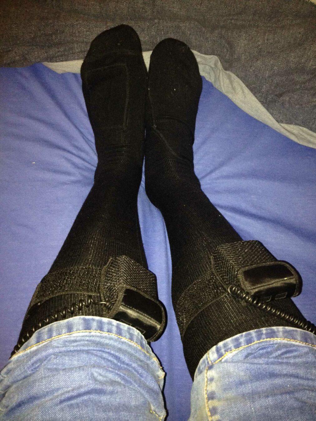 Photo de [TEST] Les chaussettes chauffantes télécommandées