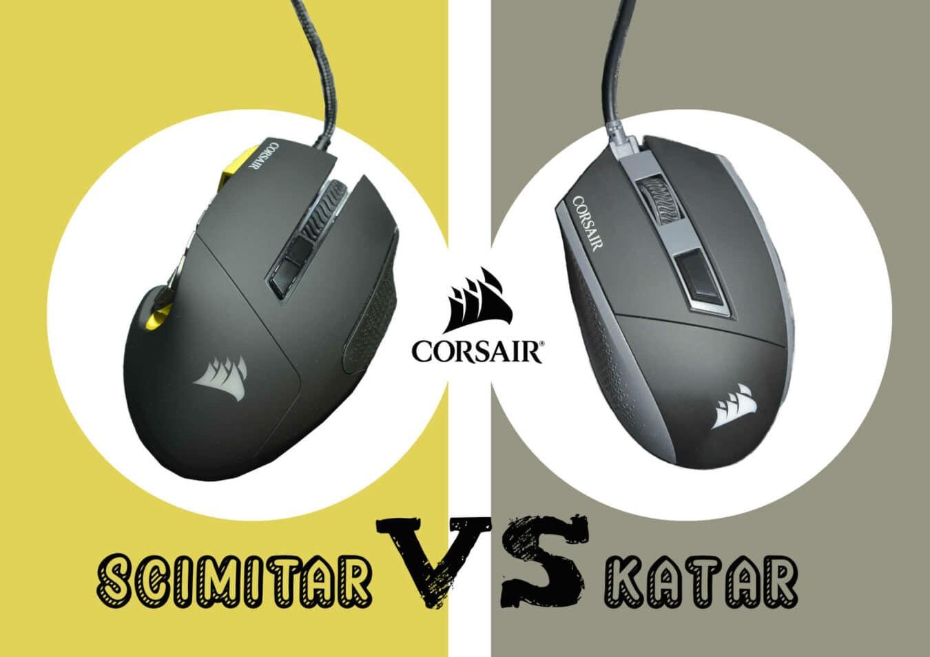 Photo de Corsair KATAR Vs SCIMITAR [RGB] – Deux souris d'exception, laquelle avez vous besoin ?