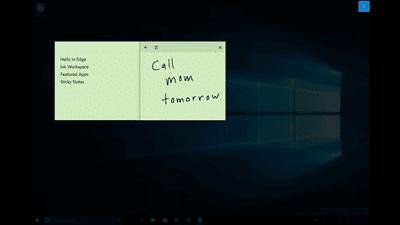 Reconnaissance de l'écriture par Cortana