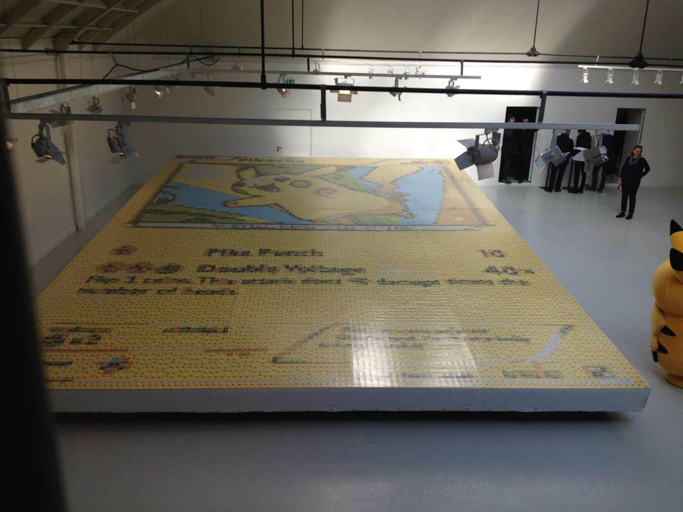 Photo of Une carte Pikachu géante en mosaïque pour les 20 ans de Pokemon