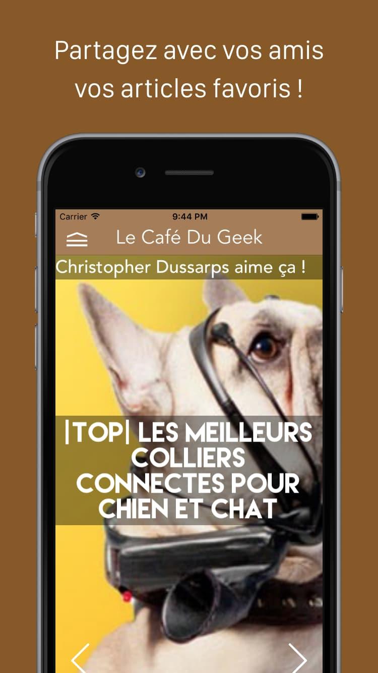 Photo de L'application Le Café du Geek se met à jour !