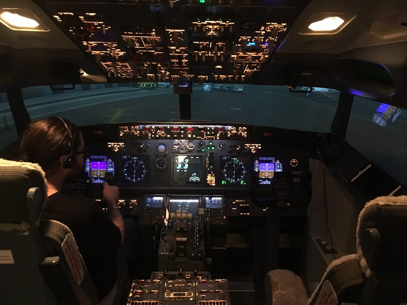 Photo de Maman j'ai piloté un Boeing 737 avec Flight Experience