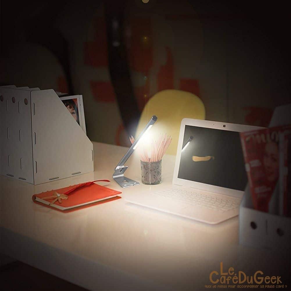 Test lampe led 5w de bureau dodocool fiat lux le caf du geek - Lampe de bureau geek ...
