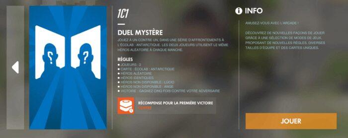 Overwatch mode 1vs1