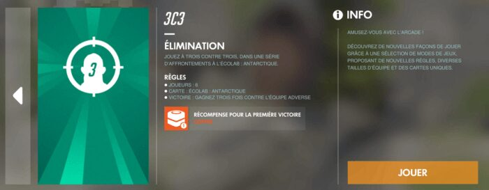 Overwatch mode 3vs3