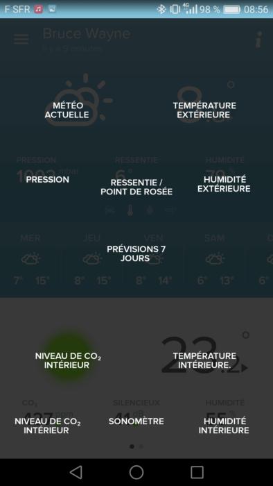 Capture Netatmo Station météo