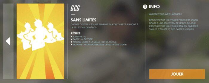 Overwatch mode Sans Limite
