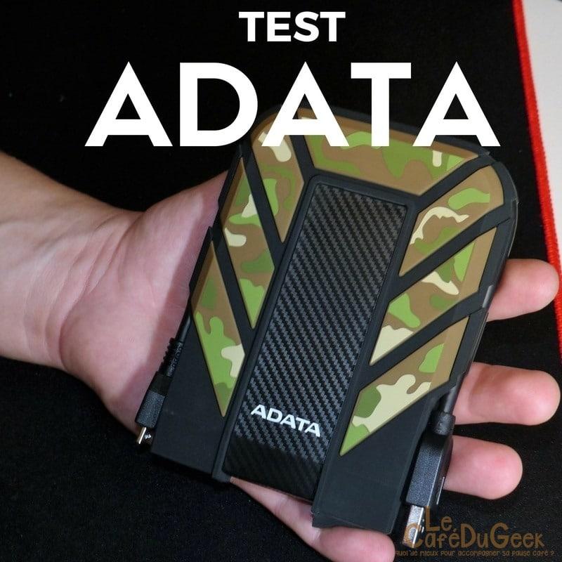 Photo de [TEST] Deux produits sympa ADATA, Batterie et HDD nomade !