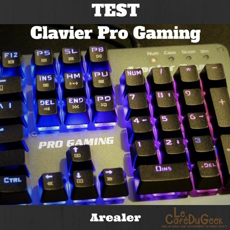 Photo de [TEST] Clavier Pro Gaming Arealer, la guirlande du Gamer !
