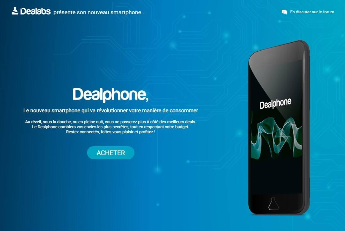 Photo de Dealphone, le premier smartphone capable de détecter et commander les meilleurs bons plans