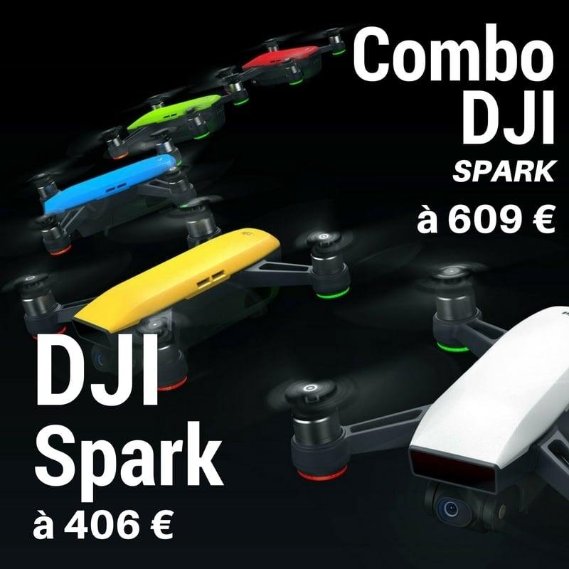 Photo de Le DJI Spark pour seulement 403€ et les DJI Goggles en promo