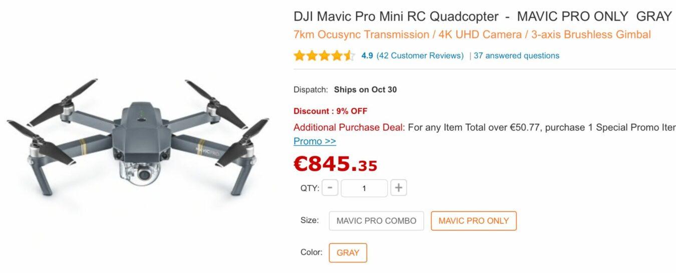 Photo de Les Bons Plans du Geek : DJI Mavic Pro à 709€, Xiaomi et bien d'autres – 23 Octobre