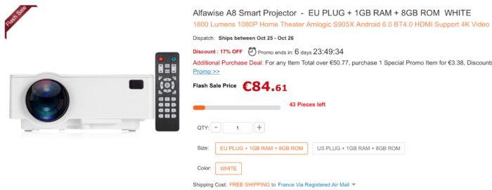 alfawise A8 projecteur