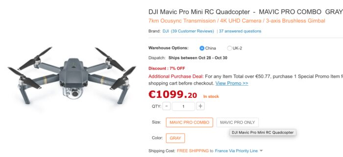 DJI Mavic Pro mini RC