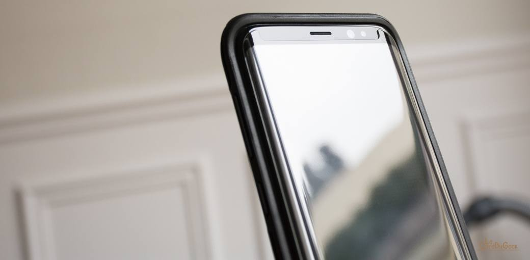 Photo de TEST – Vitre en verre trempé d'Olixar pour Galaxy S8