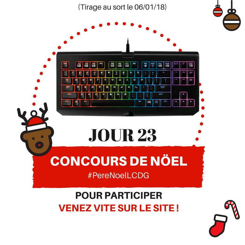 Photo of Le Calendrier du Geek – Jour 23 : Clavier Razer BlackWidow (Valeur : 150€)