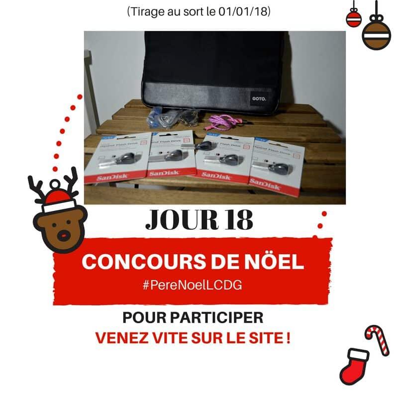 Photo of Le Calendrier du Geek – Jour 18 : 5 clés USB Sandisk iXpand pour iPhone et pochettes GOTO Design (Valeur : 400€)