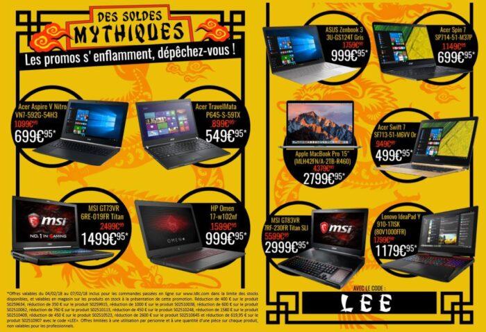 LDLC Promo Pc portables