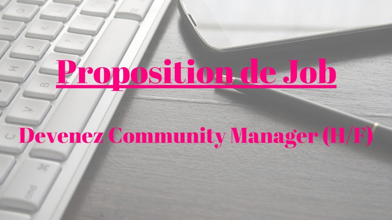 Photo de Proposition de Job – Devenez Community Manager chez Le Café du Geek