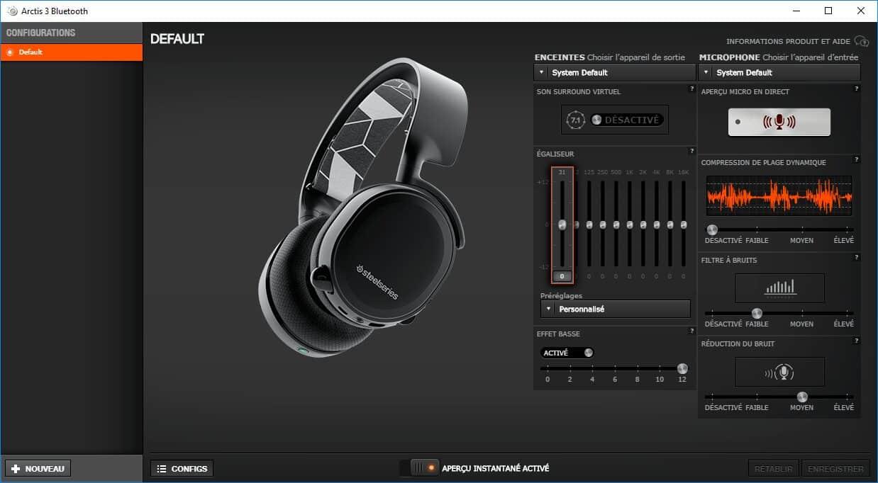 SteelSeries Engine 3 Arctis 3 Bluetooth