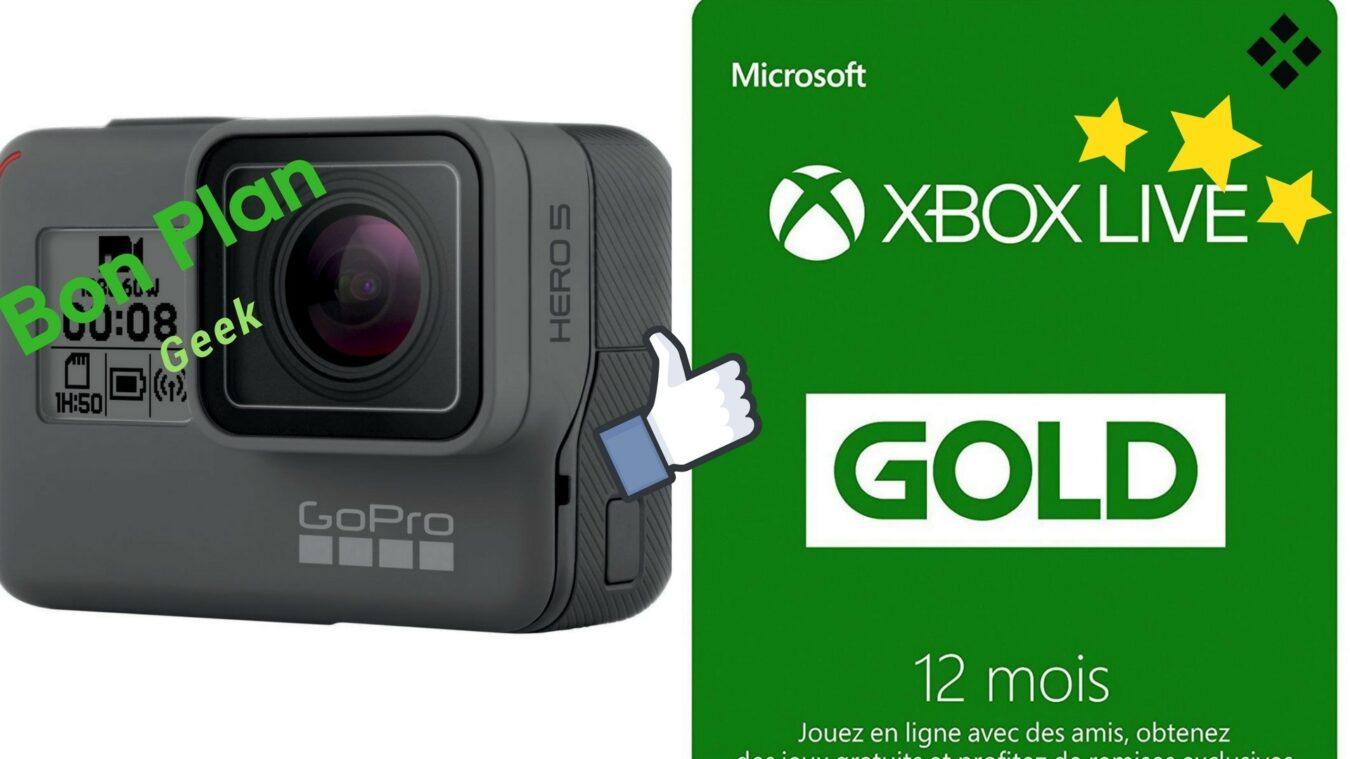 Photo de GoPro Hero 5 pour moins de 270€ et abonnement Xbox Live Gold pour 37€ – Bons Plans Geek