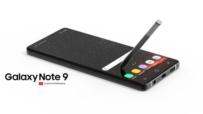 Le Galaxy Note 9 de profil par DBS Design