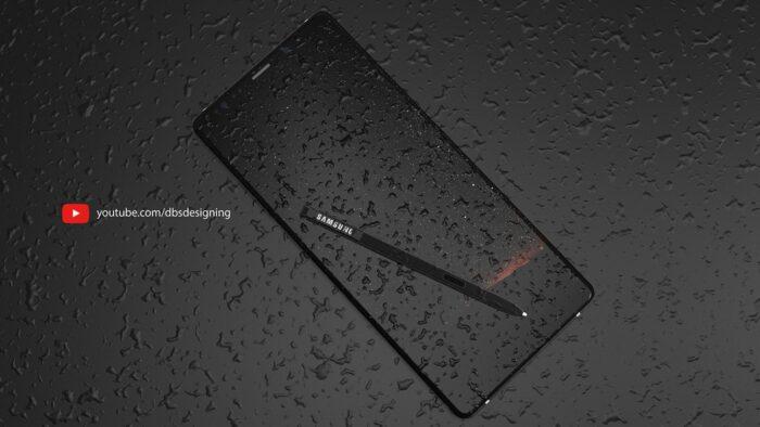 Le Galaxy Note 9 sous la pluie par DBS Design