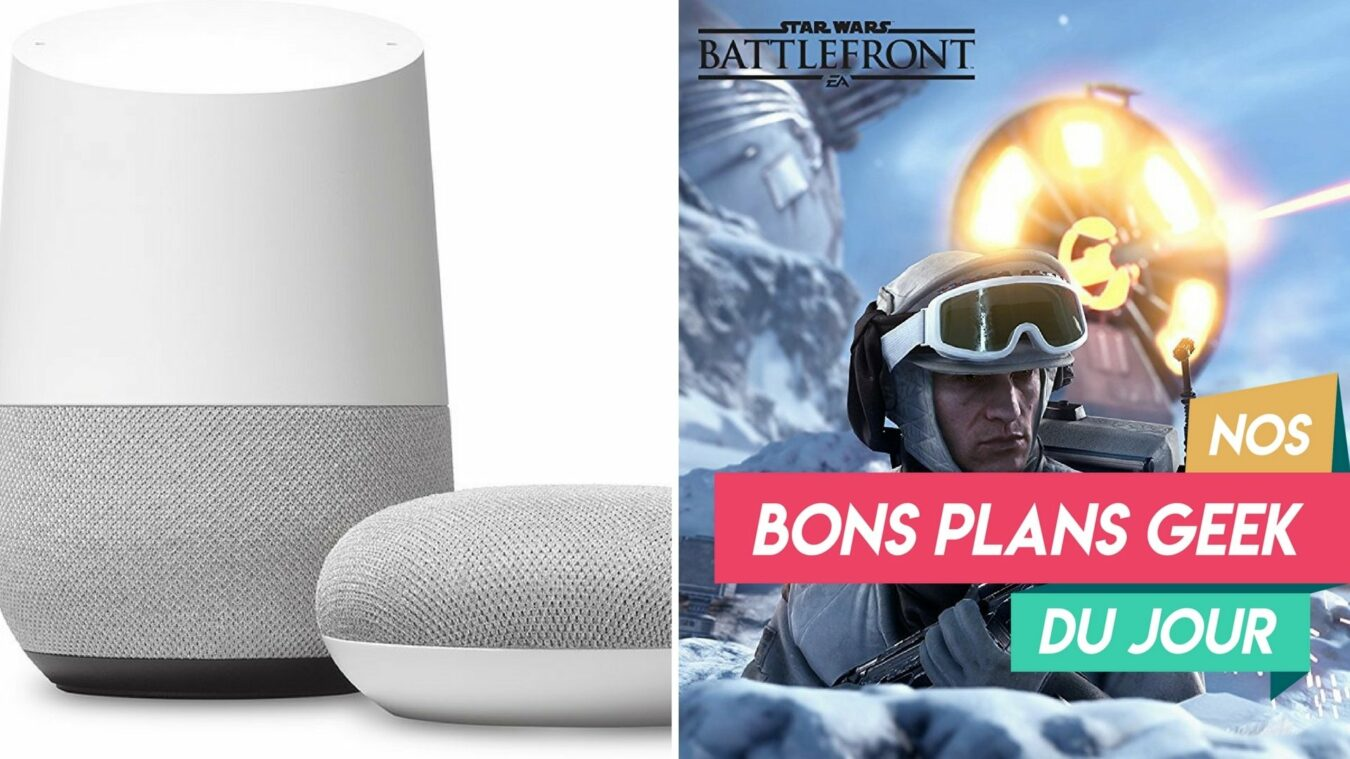Photo de #BonsPlansGeek – Le Google Home et Google Home Mini à près de -50% et Star Wars Battlefront II à 22 euros !