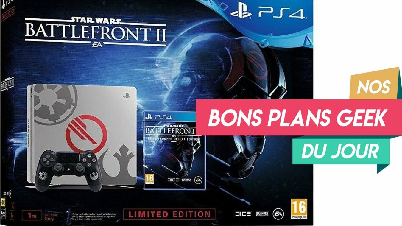 Photo de La PS4 Slim 1To Edition Limitée Battlefront II à 340€, mieux que Fornite ou BF5? Bon Plan