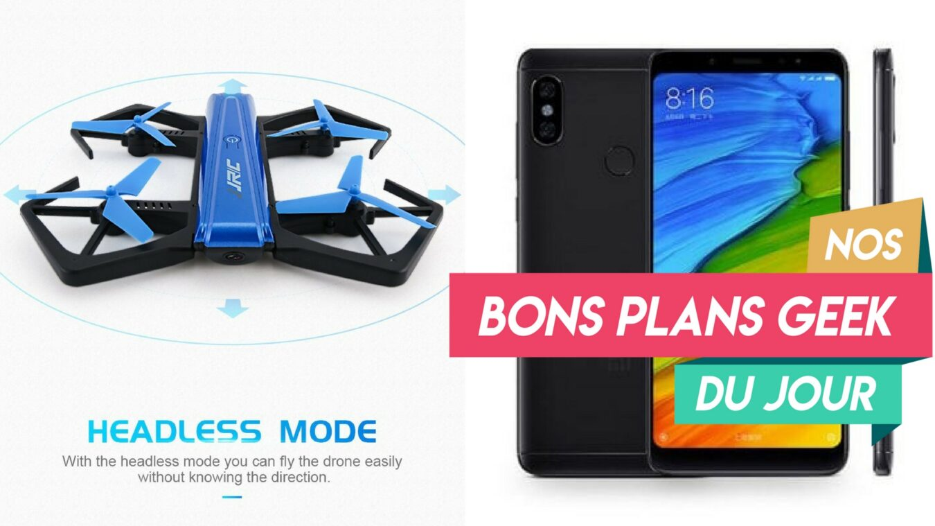 Photo de #BonsPlansGeek Xiaomi Redmi Note 5 à 200 €, des accessoires Photo « Neewer » et un Mini Drone « Goolsky JJR »