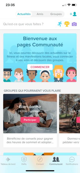 Communauté Fitbit