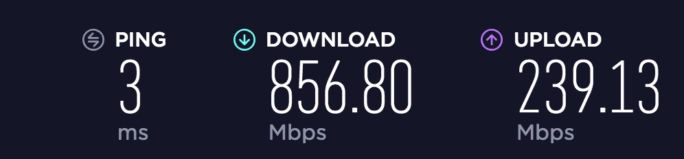 SpeedTest Netgear XR500
