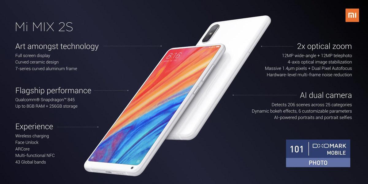 mi mix 2s smartphone