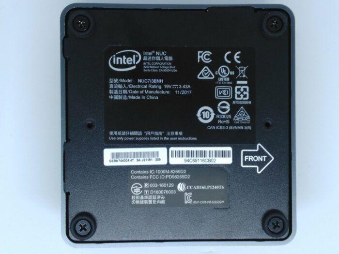 Intel NUC-Vue de dessous