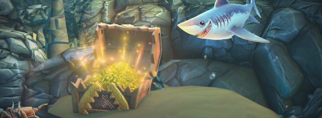 Hungry Shark World-Découverte d'un trésor