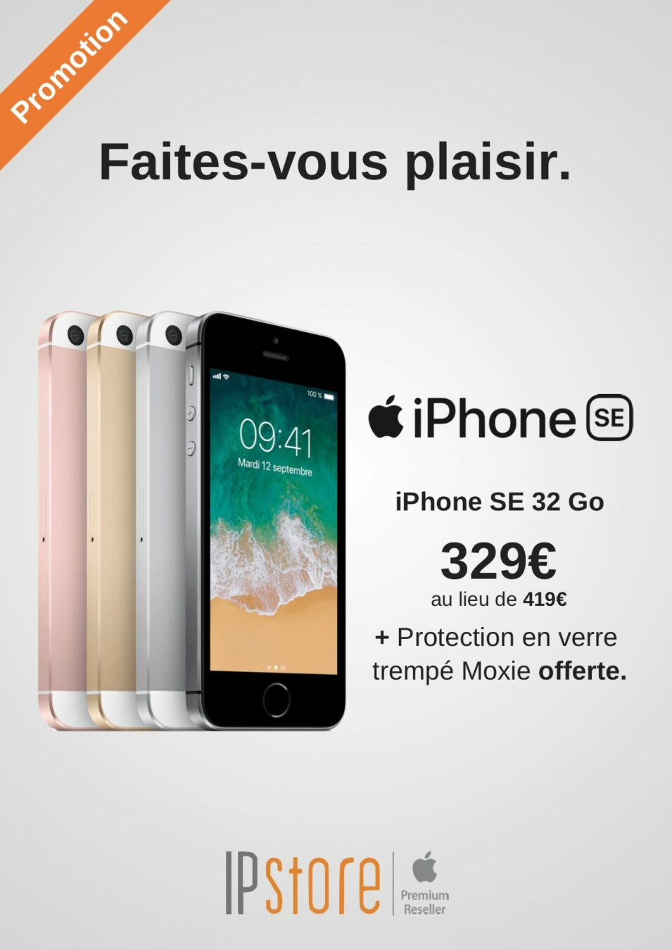 Photo of #BonPlan iPhone SE à 329€ au lieu de 419€ + verre trempé offert chez IP Store