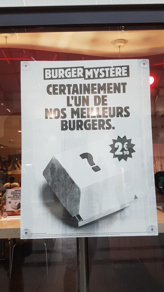 Burger Mystère Burger King